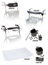 Rückengurte, Stockhalter und Tabletts für Dietz Rollatoren, Stockhalter für Rollator TAiMA S GT und M GT ab Mai 2017