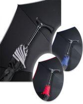 Stützschirm StepBrella, Farbe schwarz-rot