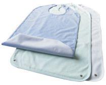 Lätzchen mit Auffang-Tasche, Frottee, Farbe weiß