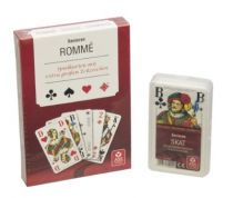 Spielkarten, Rommé-Karten in einer Stülpschachtel