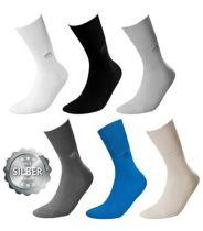 Socken DeoMed Cotton Silver, Farbe schwarz, Größe 39 bis 42