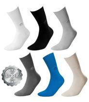 Socken DeoMed Cotton Silver, Farbe hellgrau, Größe 43 bis 46