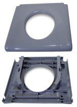 Toilettenbrille für Toilettenrollstuhl INVACARE H720T, grau