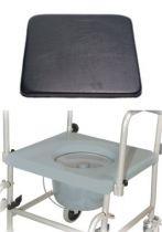 Zubehör für Toilettenrollstuhl TRS 130, Sitzpolster, Farbe schwarz