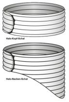 Wärmeschal Stati-Med® Futur - , Hals-Nacken-Schal, Farbe marine