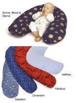 Bezug für Lagerungskissen Sissel® Comfort, Bezug Ornament, blau