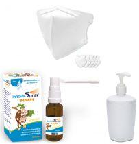 FFP2 Schutzmaske mit innovaSpray Immun Peppermint